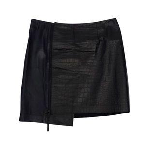 Trouve leather mini skirt